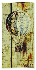 Mapping A Hot Air Balloon Beach Towel
