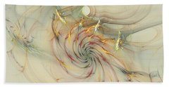Marble Spiral Colors Beach Towel