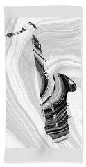 Marbled Music Art - Saxophone - Sharon Cummings Beach Towel