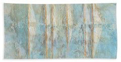 Beach Towel featuring the painting Marbled Yachts by Valerie Anne Kelly