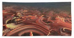 Beach Towel featuring the painting Marbletropolis by Dave Luebbert