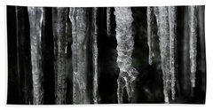 Beach Sheet featuring the photograph March Icicles by Mike Eingle