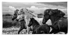 Beach Towel featuring the photograph March Of The Mares by Joan Davis