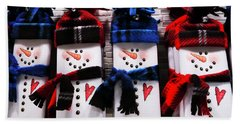 March Of The Snowmen Beach Towel