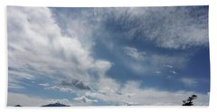 March Sky Longs Peak Beach Towel
