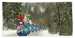 Marching Ornaments Chili Peppers Beach Sheet