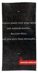 Marcus Aurelius Quotes - Literary Quotes - Book Lover Gifts - Typewriter Quotes Beach Towel