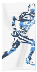 Marcus Mariota Tennessee Titans Pixel Art 13 Beach Towel