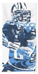 Marcus Mariota Tennessee Titans Pixel Art 21 Beach Towel