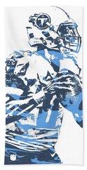 Marcus Mariota Tennessee Titans Pixel Art 23 Beach Towel