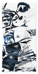 Marcus Mariota Tennessee Titans Pixel Art Beach Towel