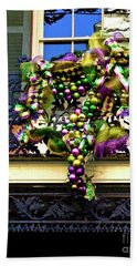 Mardi Gras Decor 1 Beach Sheet