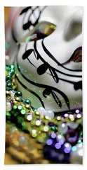 Mardi Gras I Beach Sheet by Trish Mistric