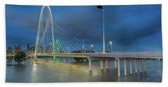 Beach Towel featuring the photograph Margaret Hunt Hill Bridge Dallas Texas by Robert Bellomy
