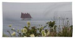 Margaret Todd Sailing On A Foggy Evening Beach Sheet