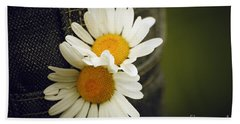 Margarite Flowers Beach Towel