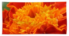 Beach Towel featuring the photograph Marigold Center by William Selander
