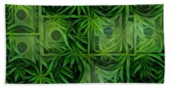 Marijuana Dollars Beach Towel