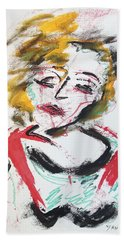 Marilyn Abstract Beach Towel