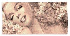 Marilyn Cherry Blossom, B Sepia Beach Sheet