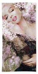 Marilyn Cherry Blossom B Beach Towel