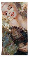 Marilyn Cherry Blossom Beach Towel