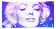 Marilyn Disco Retro Beach Towel by Kim Gauge
