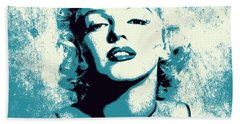Marilyn Monroe - 201 Beach Sheet by Variance Collections