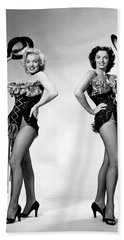 Marilyn Monroe And Jane Russell Beach Towel by American School