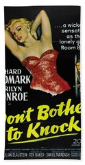 Marilyn Monroe And Richard Widmark In Don't Bother To Knock Beach Sheet