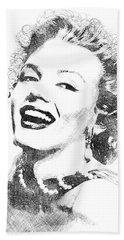 Marilyn Monroe Bw Portrait Beach Towel