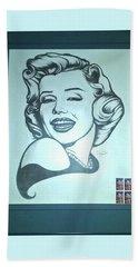 Marilyn Monroe By Jackie Shearer Beach Towel by Jay Milo