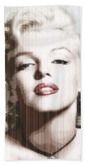 Marilyn Monroe - Colored Verticals Beach Sheet