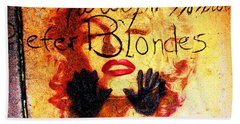 Beach Towel featuring the photograph Marilyn Monroe Gentlemen Prefer Blondes 20160105 by Wingsdomain Art and Photography
