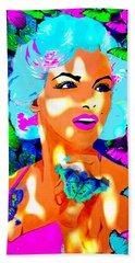 Marilyn Monroe Light And Butterflies Beach Sheet