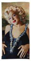 Marilyn Monroe  Mona Lisa  Beach Towel