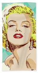 Marilyn Monroe Pop Art Beach Sheet