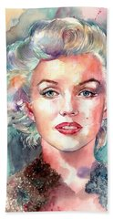 Marilyn Monroe Portrait Beach Towel