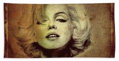 Marilyn Monroe Star Beach Towel