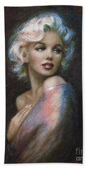 Marilyn Romantic Ww 4 Blue Beach Towel