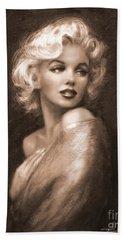 Marilyn Ww Sepia Beach Towel