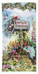 Marilyn's Greenhouse Beach Towel