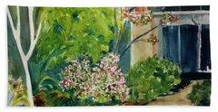 Marin Art And Garden Center Beach Sheet by Tom Simmons