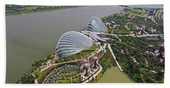 Marina Bay Sands Flower Garden And Park Beach Sheet