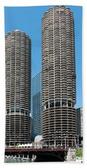 Marina City Beach Towel