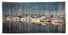 Marina Sunset 4 Beach Towel