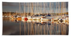 Marina Sunset 6 Beach Towel