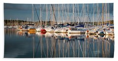 Marina Sunset 7 Beach Towel