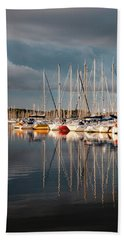 Marina Sunset 9 Beach Towel
