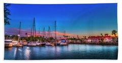 Marina Sunset Beach Towel